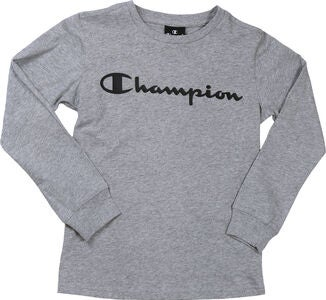 Champion Kids Langärmliges T-Shirt, Grey Melange Light