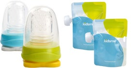 Kidsme Reuseable Food Pouch, 8x180ml Inkl. Adapter