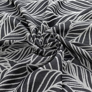 Fidella Baby Wrap Tragetuch Size 6 Dancing Leaves, Black&White