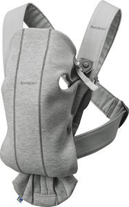Babybjörn Mini Babytrage 3D Jersey, Light Grey