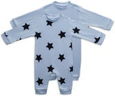 Tiny Treasure Maxime Overall  2er-Pack, Baby Blue