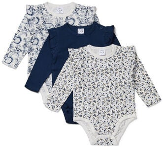 Luca & Lola Carina Body 3er-Pack, Navy