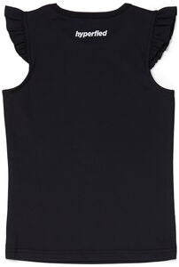 Hyperfied Frill Tank Top, Anthracite