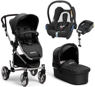 Beemoo Flexi Travel 3 inkl. Travelsystem Maxi-Cosi, Black Melange