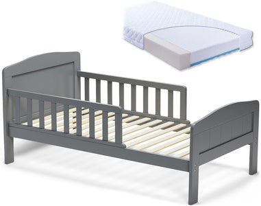 JLY Dream Juniorbett mit BabyMatex Carpathia Matratze 70x140, Grau
