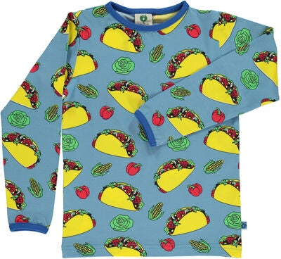 Småfolk Taco T-Shirt, Sky Blue