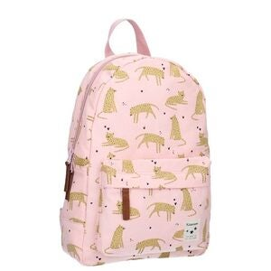 Kidzroom Cuddle Leopard Rucksack, Light Pink