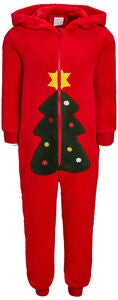Luca & Lola Baby Albero Jumpsuit, Red Christmas