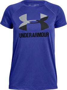 Under armour Big Logo Tee Solid SS Trainingsshirt, Purple