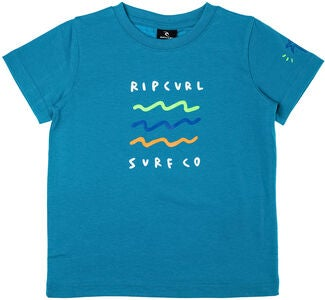 Rip Curl Wavey Groms SS Tee T-Shirt, Barrier Reff