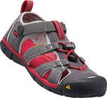 KEEN Seacamp II CNX Youth Sandale, Magnet/Racing Red