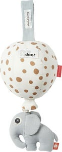 Done By Deer Spieldose Ballon Happy Dots, White/Gold