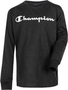 Champion Kids Langärmliges T-Shirt, Black Beauty