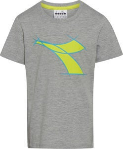 Diadora T-Shirt, Light Mid Grey Mel