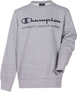Champion Kids Crewneck Pullover, Gray Melange Light