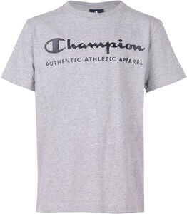 Champion Kids Crewneck T-Shirt, Grey Melange Light