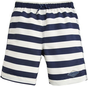 Tom Joule Badehose, Cream Navy Stripe