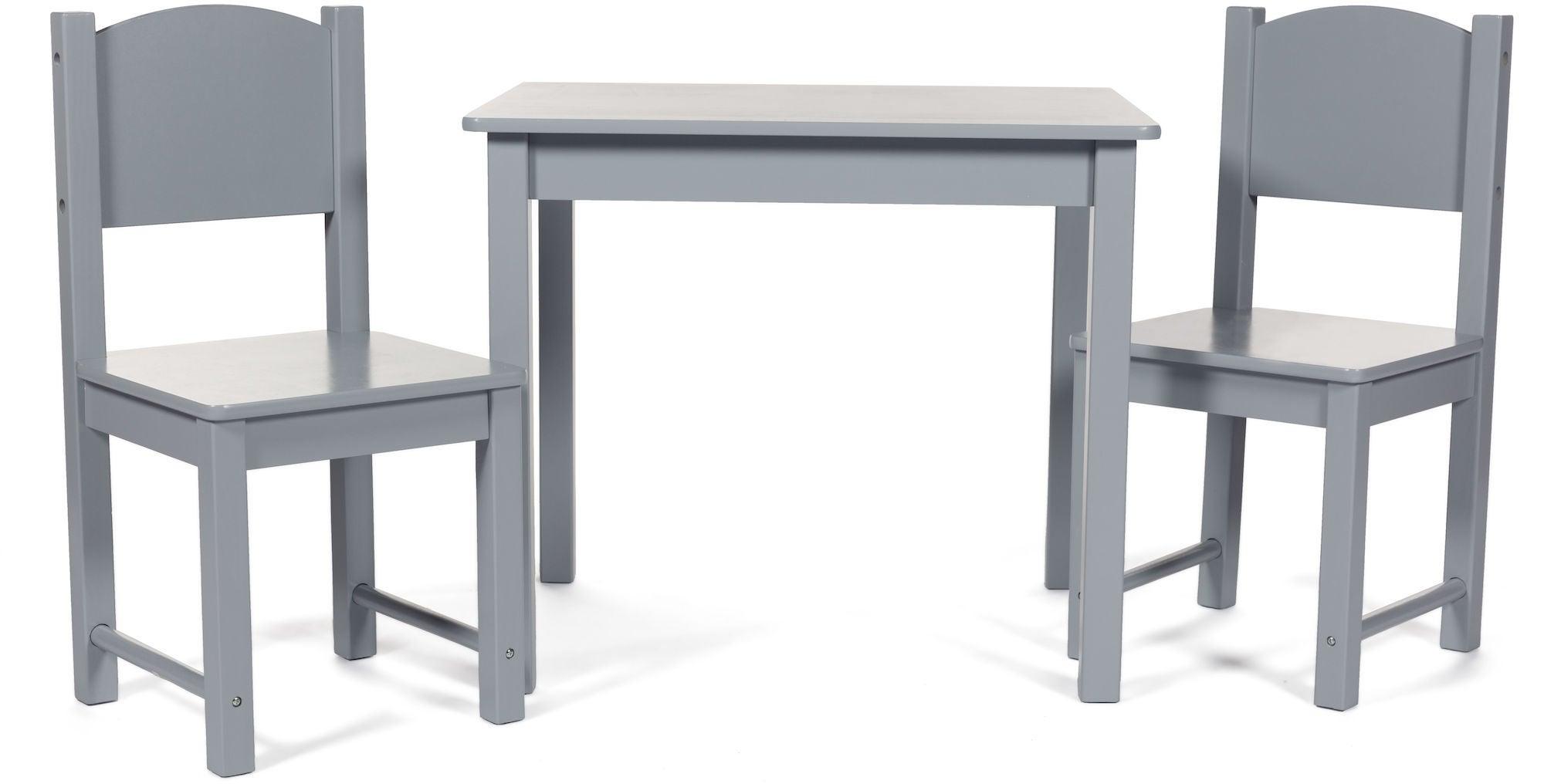 Kaufen Woodlii Tisch Und 2er Pack Stühle Grau Jollyroom