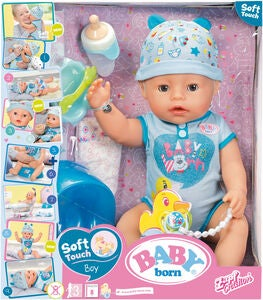 Baby Born Puppe Junge Interactive Soft Skin 43 cm