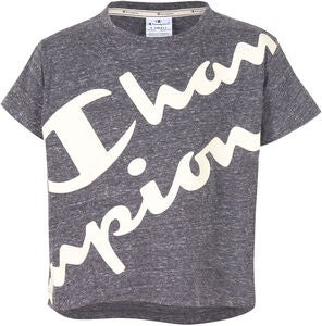 Champion Kids Top, New Charcoal Grey Melange Dark