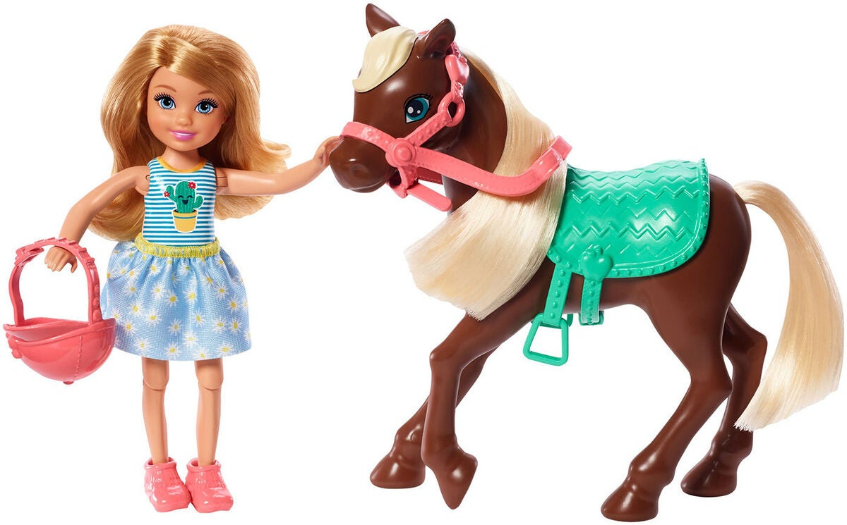 Barbie Club Chelsea Puppe Mit Pferd