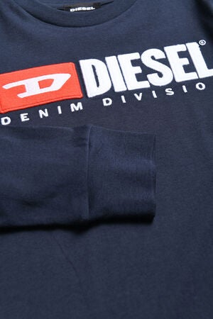 Diesel Tjustdivision Ml T-Shirt, Dark Blue