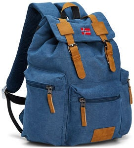 Pure Norway Retro Junior Rucksack, Blau