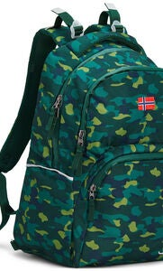 Pure Norway Free Waterproof Rucksack, Camouflage Grün
