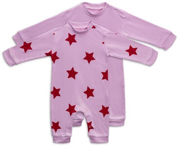 Tiny Treasure Maxime Overall  2er-Pack, Pink Lavender