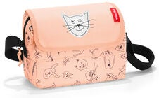 Reisenthel Cats and Dogs Schultertasche, Rosa