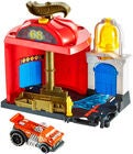 Hot Wheels City Downtown Fire Station Spinout Spielset