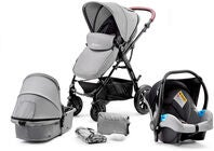 Kinderkraft Multipurpose 3-in-1 Moov Travelsystem, Grey