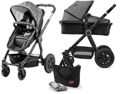 Kinderkraft Multipurpose 2-in-1 Veo Kombikinderwagen, Black/Grey
