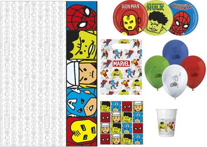 Marvel Avengers Partypaket Team Power