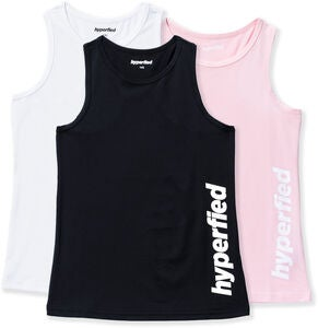 Hyperfied Split Tanktop 3er Pack, Black/White/Fairy Tale