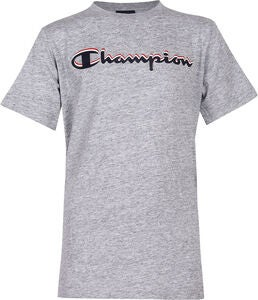 Champion Kids Crewneck T-Shirt, Grey Melange