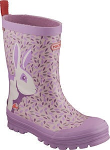 Viking Jolly Big Rabbit Gummistiefel, Lavender/Multi