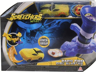 Screechers Wild Wave 1 Launchers Rapid Fire Disc Blaster