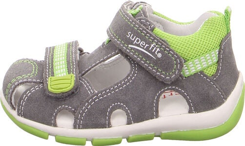 Superfit Freddy Sandalen, Light Grey/Light Green