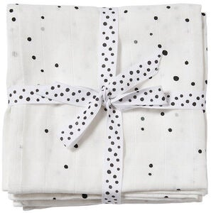 Done By Deer Musselindecke Dreamy Dots 2er-Pack, White