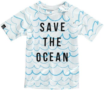 Beach & Bandits UV-Shirt Save the Ocean, Weiß