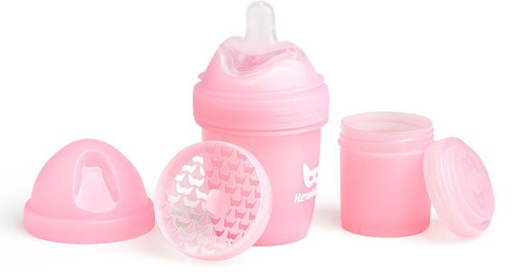 Herobility Baby Bottle 140 ml, Rosa