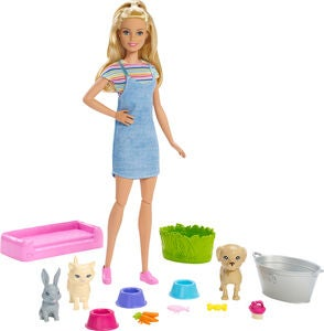 Barbie Play 'n' Wash Pets Puppe & Spielset