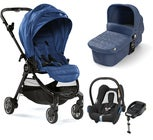 Baby Jogger City Tour Lux Kombiwagen, Iris + Maxi-Cosi Cabriofix Travelsystem