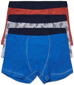 Luca & Lola Giacomo Boxer 3er-Pack, Blue/Orange
