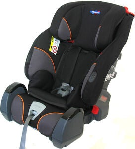 Klippan Triofix Recline Kindersitz, Black Orange