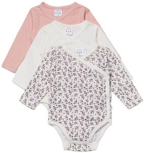 Luca & Lola Alexie Body 3er-Pack, Pink Flowers