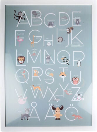 Form Living Poster Alphabet, Blau