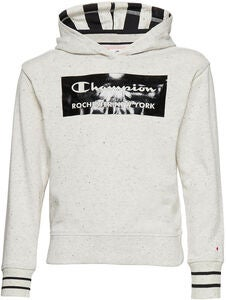 Champion Kids Kapuzenpullover, Light Grey Black Dots Melange