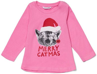 Luca & Lola Top Merry Catbaby, Pink